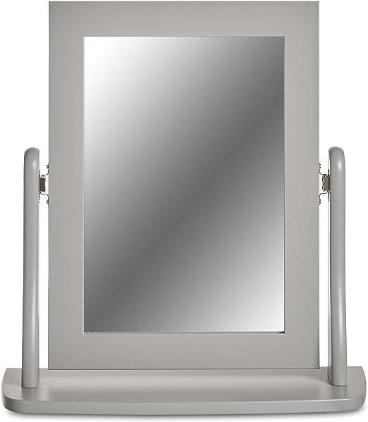 Adorno - Espejo de mesa gris – Para maquillarse sin apoyo / Espejo ...