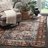 Safavieh Bijar Collection BIJ621C Traditional Oriental Vintage Brown and Royal Blue Area Rug (9′ x 12′) Review