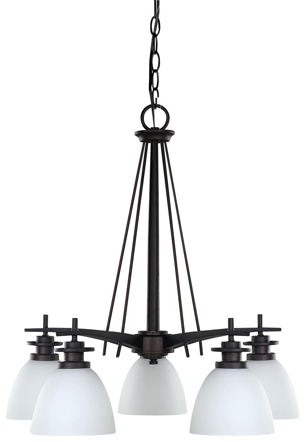 canarm new yorker 5light chandelier flat opal glass and brushed pewter amazoncom