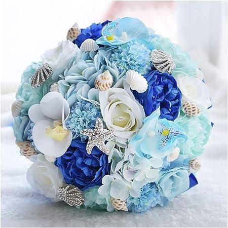 Bouquet Sposa Mare.Gddyq Bouquet Da Sposa Bouquet Da Sposa Romantico Blu Adatto Per
