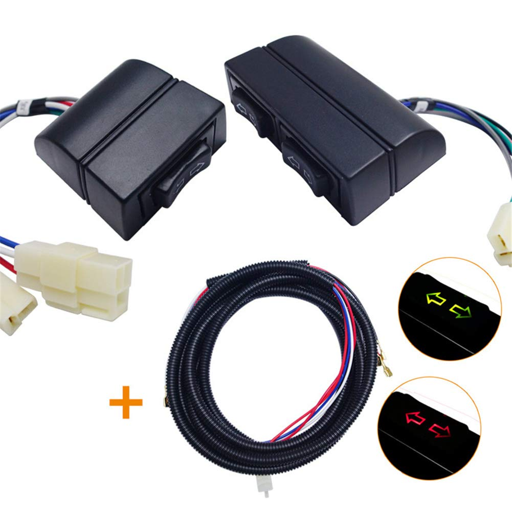 12 V/24 V 5-Pin Elevalunas elé ctrico AUTO coche universal interruptor para 2 ventana Easy-topbuy123