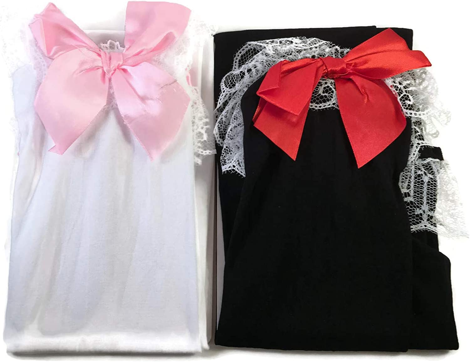 NEW GIRLS LADIES KNEE HIGH SOCKS WITH RED BOW BLACK /& WHITE BOW