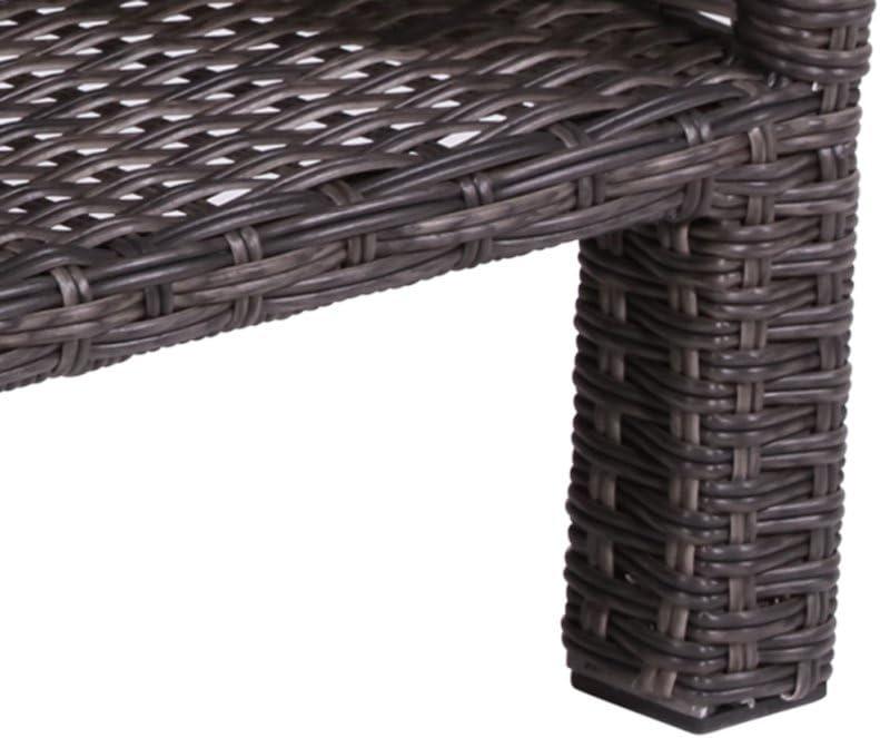 lifestyle4living Mesa Auxiliar de ratán sintético Gris. Mesa de jardín, Mesa de spraystone Impermeable Placa y Estructura de Aluminio, Ideal para jardín, balcón y Terraza: Amazon.es: Juguetes y juegos
