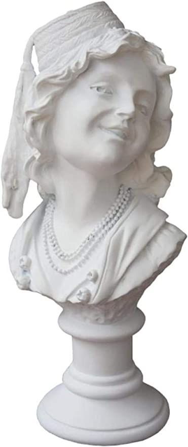 SculpturesQYZ Estatuas para jardín Figuras de colección Risibilidad Mujer Cabeza Retratos Estatua Figura Abstracta Chica Artes Escultura Pequeña Resina de Yeso Arte Artesanía Decoración del hogar: Amazon.es: Hogar
