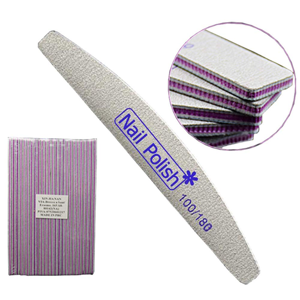 Loweryeah Nail File Half Moon Shape Repair Type Frustration Nail Art Tool