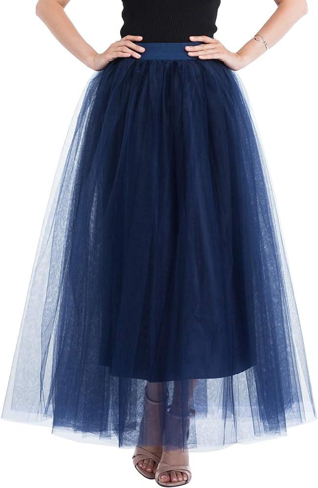Happy Cherry - Vestido de Gasa para Mujer Falda Larga Azul de ...