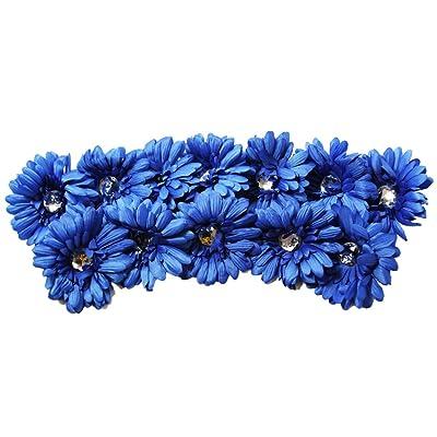 "12 Piece - 4"" Crystal Gerbera Daisy Flower Heads/Tops - NO CLIP ATTACHED - Per Dozen"