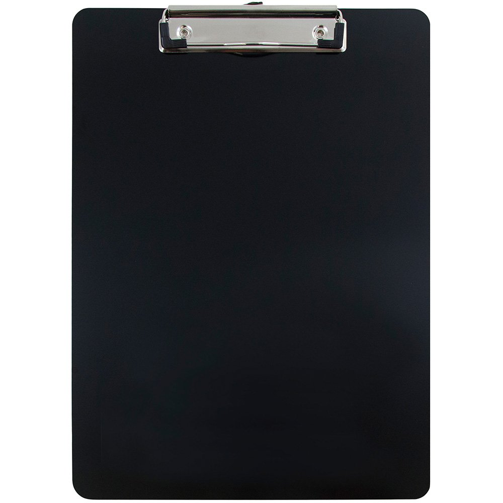 JAM Paper Aluminum Clipboard with Low Profile Metal Clip - Letter (9'' x 12 1/2'') - Black - Sold Individually
