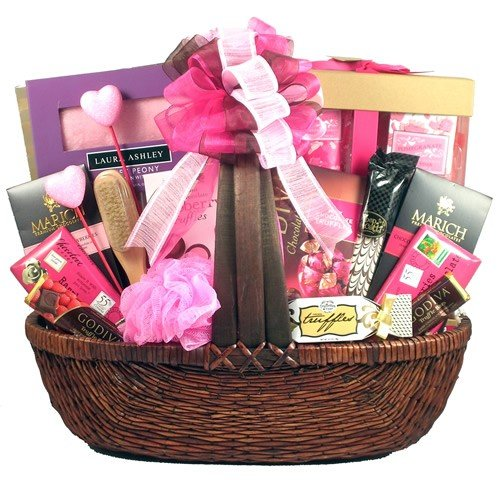Pampering Spa and Chocolate Valentines Day Gift Basket for Women by Gifts to Impress