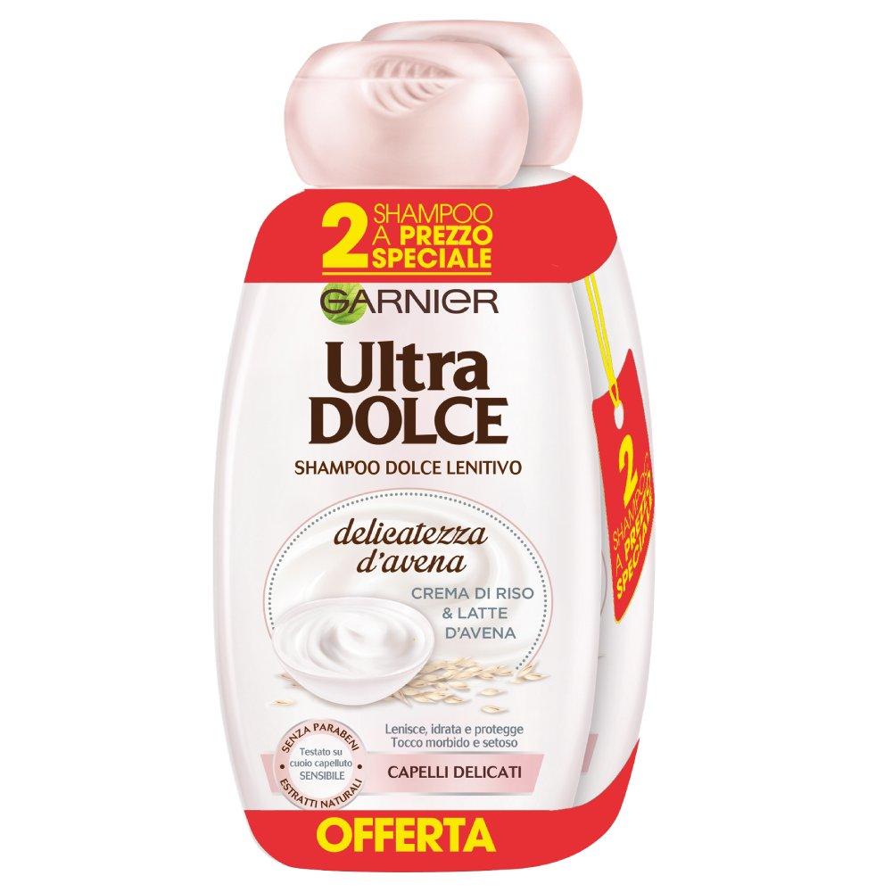 Garnier Ultra Dolce Champú, crema de arroz y leche de avena, 3 x paquete de 2: Amazon.es: Belleza