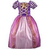 Rcool Vestito da Principessa Bambina Costume Ragazze Principessa Vestito Elegante Tutu A Strisce Cosplay Biancaneve Festa Halloween Natale Carnevale Cerimonia Abito Partito 3-12 Anni,