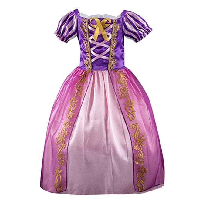 1102d05238246 Little Big Girls Dresses Tutu Kid Short Sleeve Striped Print Bow Tie Bling  Costumes Princess Pageant Prom Ball Gown 2-7 Years