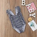 ITFABS Newborn Baby Girl Floral Swimsuit Ruffles