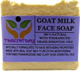 Goat Milk Soap Anti-Aging Formula For Face Cleaning and Moisturizing Made With Frankincense Essential Oil and Clary Sage Which Provide Astringent Properties For The Skin (3 Pack)