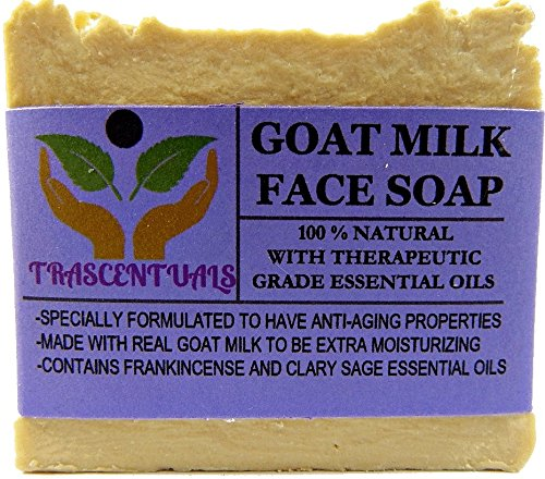 (Goat Milk Soap Anti-Aging Formula For Face Cleaning and Moisturizing Made With Frankincense Essential Oil and Clary Sage Which Provide Astringent Properties For The Skin (1 Pack))