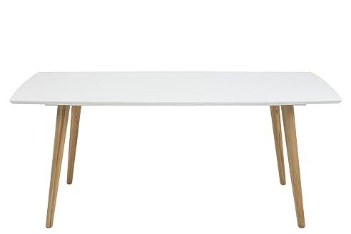 Tischplatte weiß hochglanz  AC Design Furniture Esstisch 180x100cm aus Holz Tischplatte weiß ...