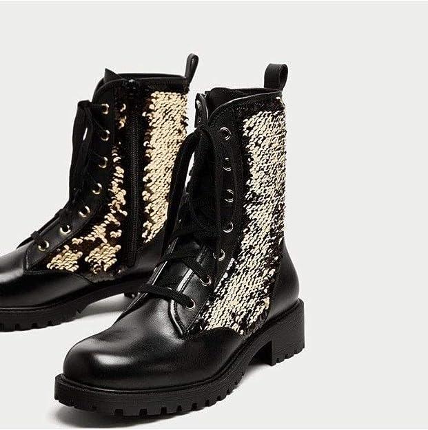 Zara Women Shoes Sz 5 Combat Ankle