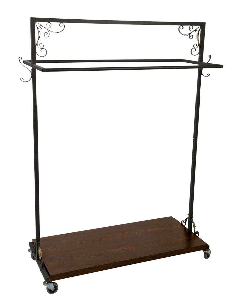 SSWBasics Boutique Vintage Double-Rail Rolling Clothing Rack