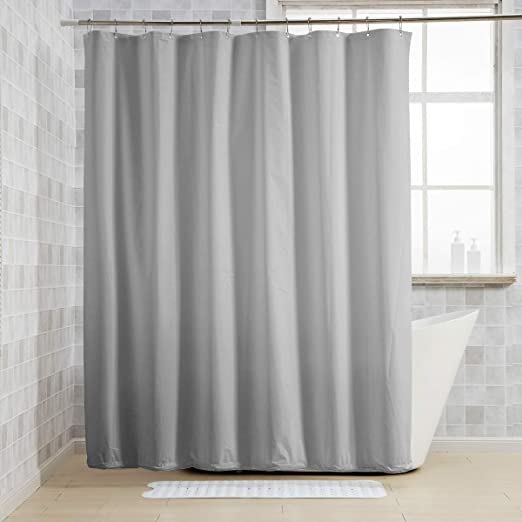 Extra Long Shower Curtain Liner with 12 Rust Resistant Grommet Holes 2 Pack