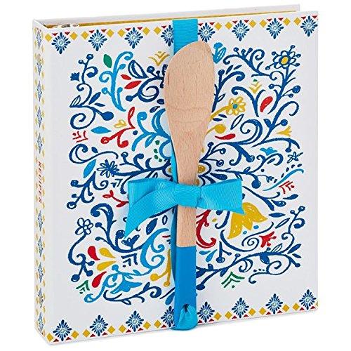 Hallmark Big Happy Life Recipe Book With Wooden Spoon by HMK