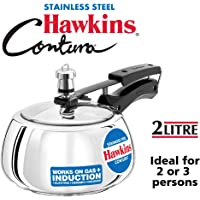 Hawkins Contura Stainless Steel Pressure Cooker for Induction, Electric and Gas Stove