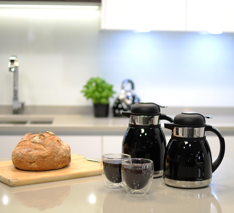 Teekanne Thermoskanne Thermos 2L rot Bama Tahiti Kaffeekanne