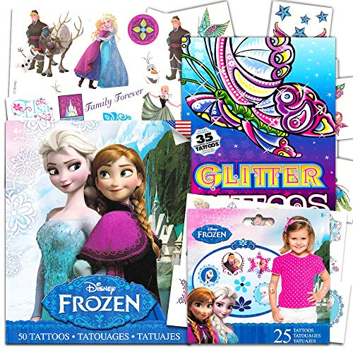 (Disney Frozen Temporary Tattoos Dress Up Costume Set -- Over 110 Tattoos, Includes Glitter)