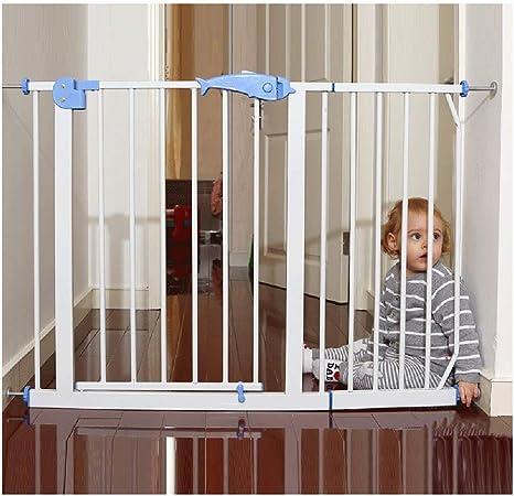 ZEMIN Fácil De Pasar/Instalar Barrera De Seguridad Escalera Puerta for Niños Perros Abre La Puerta En Dos Direcciones, Ancho Escalable (Color : H 76CM, Size : W 140-147CM): Amazon.es: Hogar