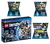Lego Dimensions Ghostbusters Starter Pack + Peter Venkman Level Pack + Slimer + Stay Puft Fun Packs for Playstation 4 or PS4 Pro Console