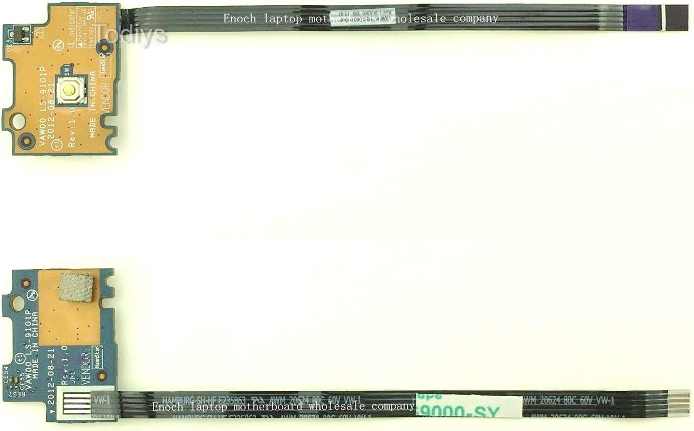 Todiys Power Button Switch Board for Dell Inspiron 15 3521 3531 3537 P28F 15R 5521 5537 i15RM-5122SL M531R 5535 Vostro 2521 V2521 Latitude 3540 Laptop LS-9101P NBX00019O00