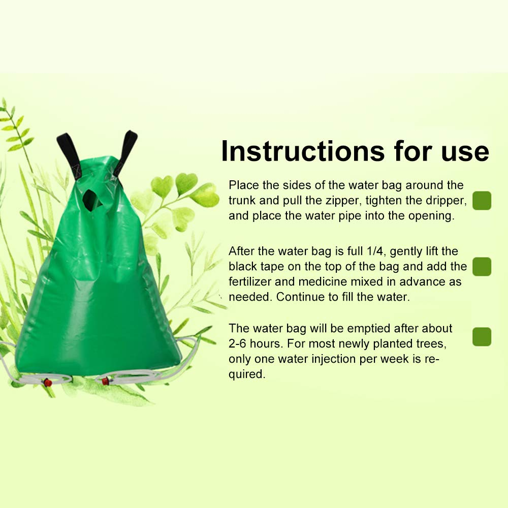 gdfh PVC Portable Water Bag Circular Drip Bag for Garden Planting Original Slow Release Watering Bag for Trees by gdfh