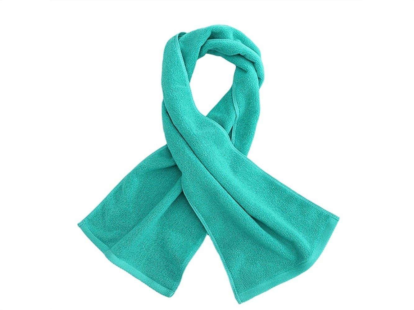 Wesource Activates Adult Cotton Run Sport Sweat Towel Absorbent Lengthen Movement Towel Gym(Green)