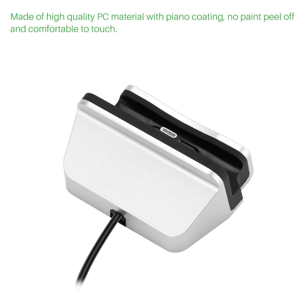 Nexus 5X 6P Leeco Le Max 2 // Le 2 Pro Sunsbell USB Type-C Desktop Charging Dock USB-C Charger Stand con cavo per Samsung Galaxy S8 // S8 Inoltre ecc