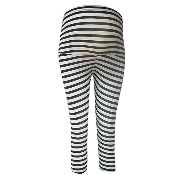 QinMMROPA Pantalones Rayas para Maternidad Mujeres Embarazadas ...