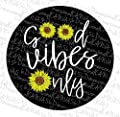 Good Vibes Sunflower jeep tire cover