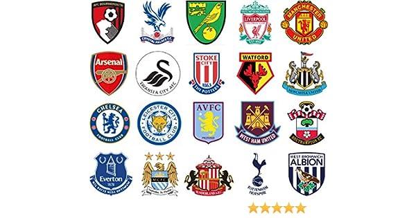 Wallp Pack de 20 Pegatinas de la Liga Inglesa de Futbol: Amazon.es: Deportes y aire libre