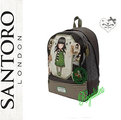 97b3c0e9c26ad9 ZAINO SCUOLA Double Gorjuss The Scarf SANTORO LONDON verde marrone 2017/2018