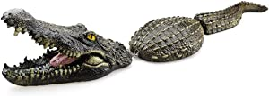 Lmtime Floating Crocodile Decoy for Pool, Pond, Garden and Patio, 31.5