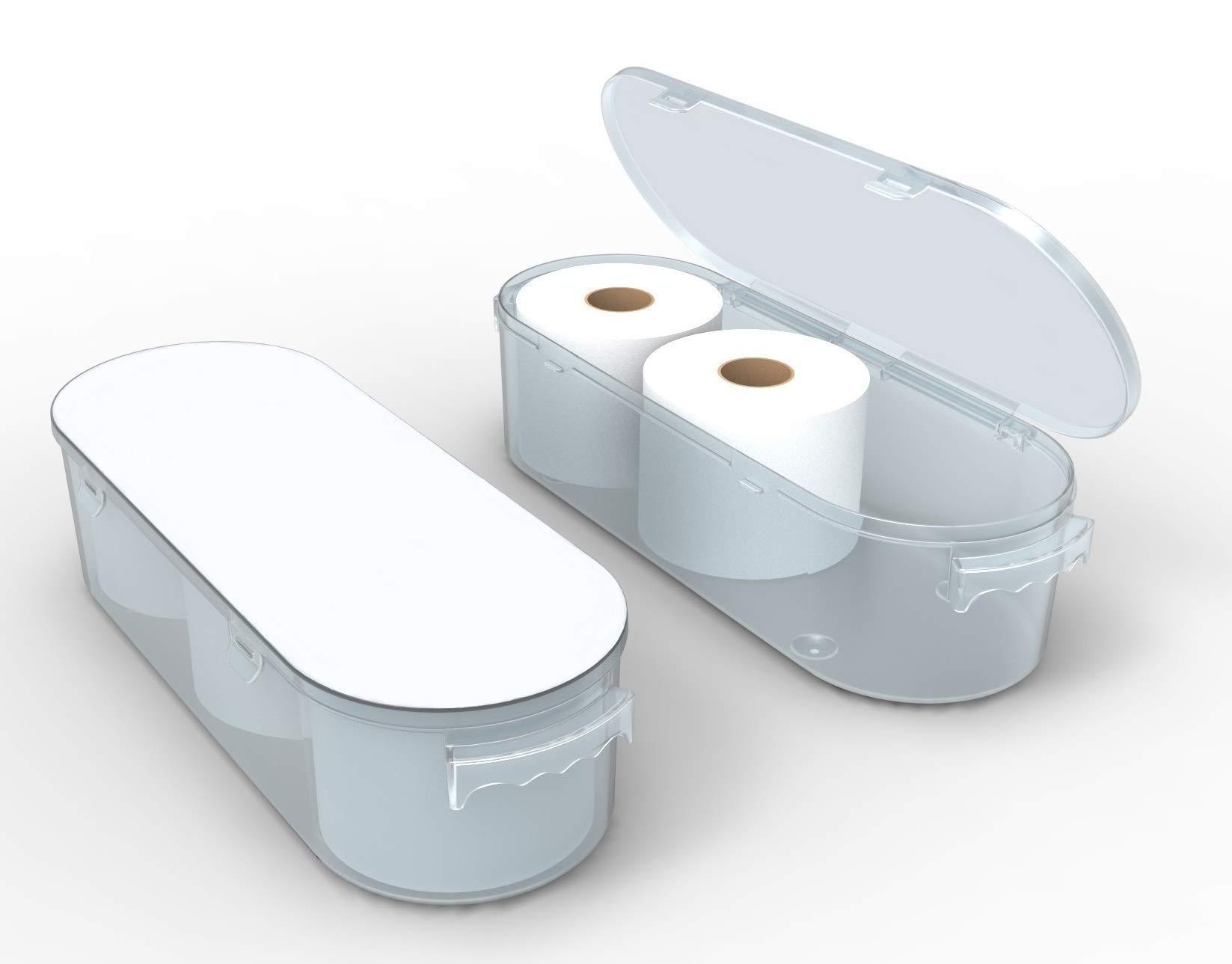 Koribox - 4'' Toilet Paper Holder Storage - 9 Designs (Pure White) by Nykia Designs