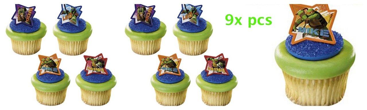 Amazon.com: Pastel toppers-cakepicke Teenage Mutant Ninja ...