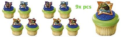 Amazon.com: Ninja Turtles Cake Toppers-CakePicke Teenage ...