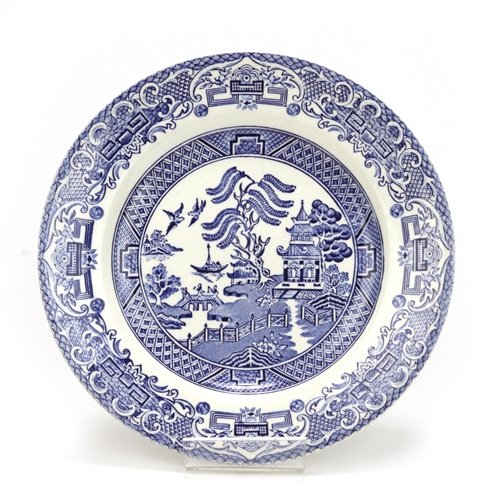 Blue Willow made in England, Ironstone Bread & - Blue Ironstone Willow English