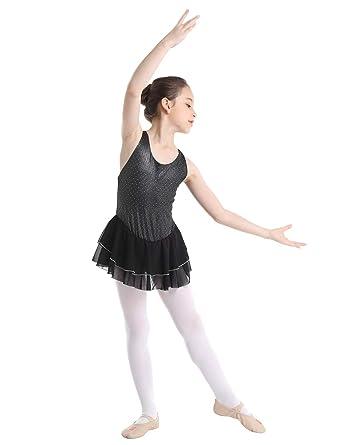 Freebily Vestido de Patinaje sobre Hielo Niña Maillots Gimnasia Ritmica Ballet Niña Ropa Deportiva Vestido Danza Clásica Tutú Leotardo Baile de ...