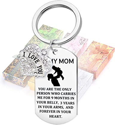 Ideal Present//Gift Any Women Mother Someone Special Bulldog Mummy Keyring