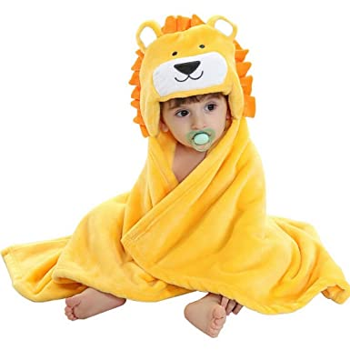 Smart Feelme Baby Swaddle Wrap Infant Toddler Animal Bathrobe Fleece Towel Blanket Wit Bathing & Grooming