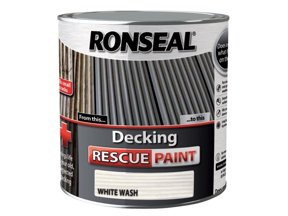 Ronseal DRPC25L 2.5 Litre Decking Rescue Paint - Chestnut
