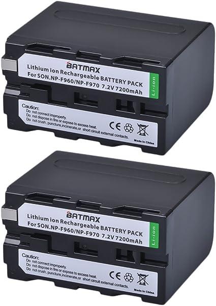 2x Batería F Sony np-f930 np-f960 np-f970 hdr-fx1 dcr-vx2100