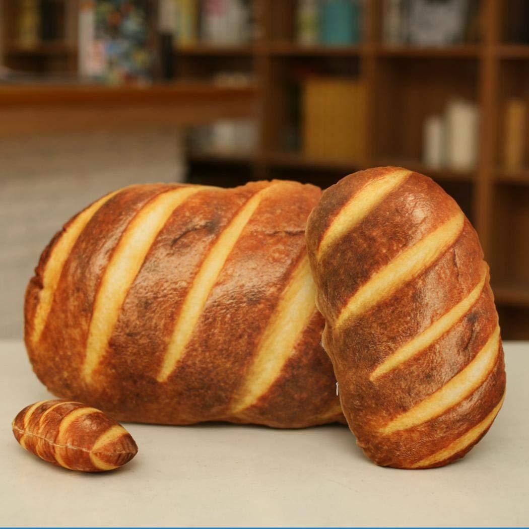 melysUS 3D HD Prints Butter Bread Shape Pillow Plush Toys for Home Decor Pillows