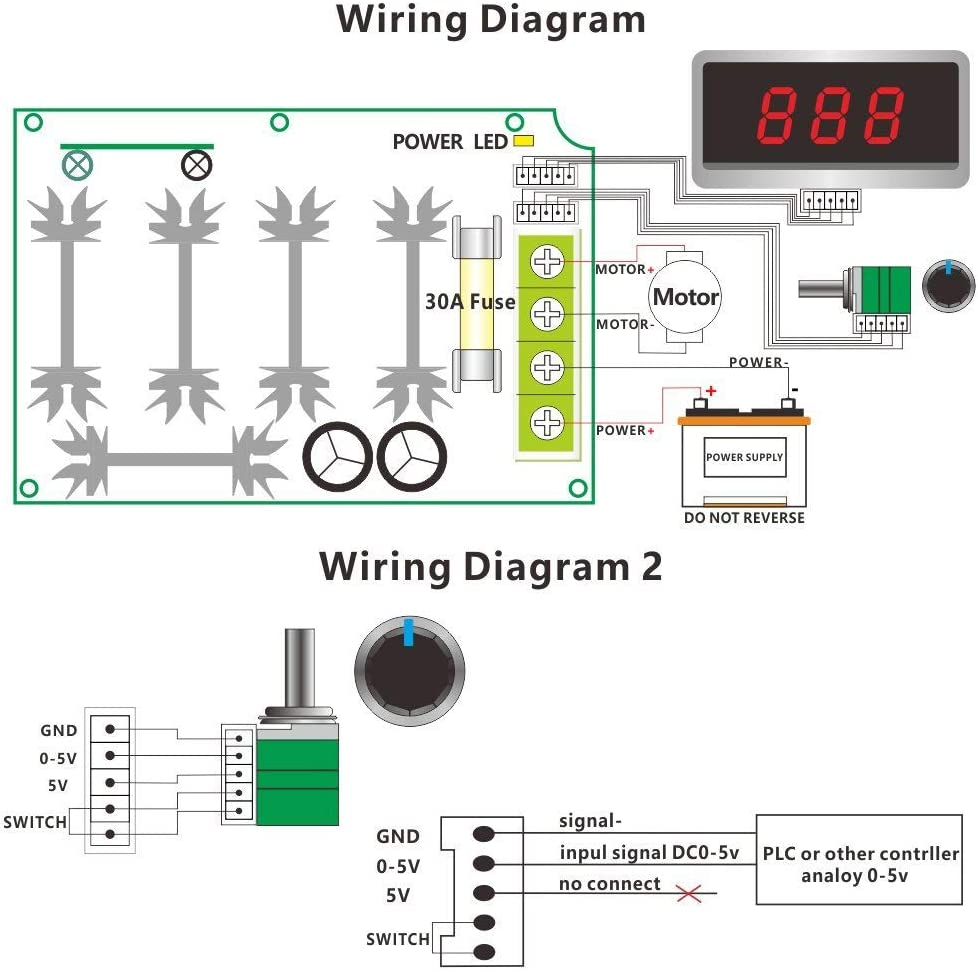 Greartisan 12V-80V 30A DC Motor Speed Controller PWM Variable Speed Regulator Governor Switch CCM6DS-D With Speed Control Knob