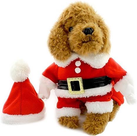 Disfraz para perro, de forro polar, con gorro, XS, de Selmai ...